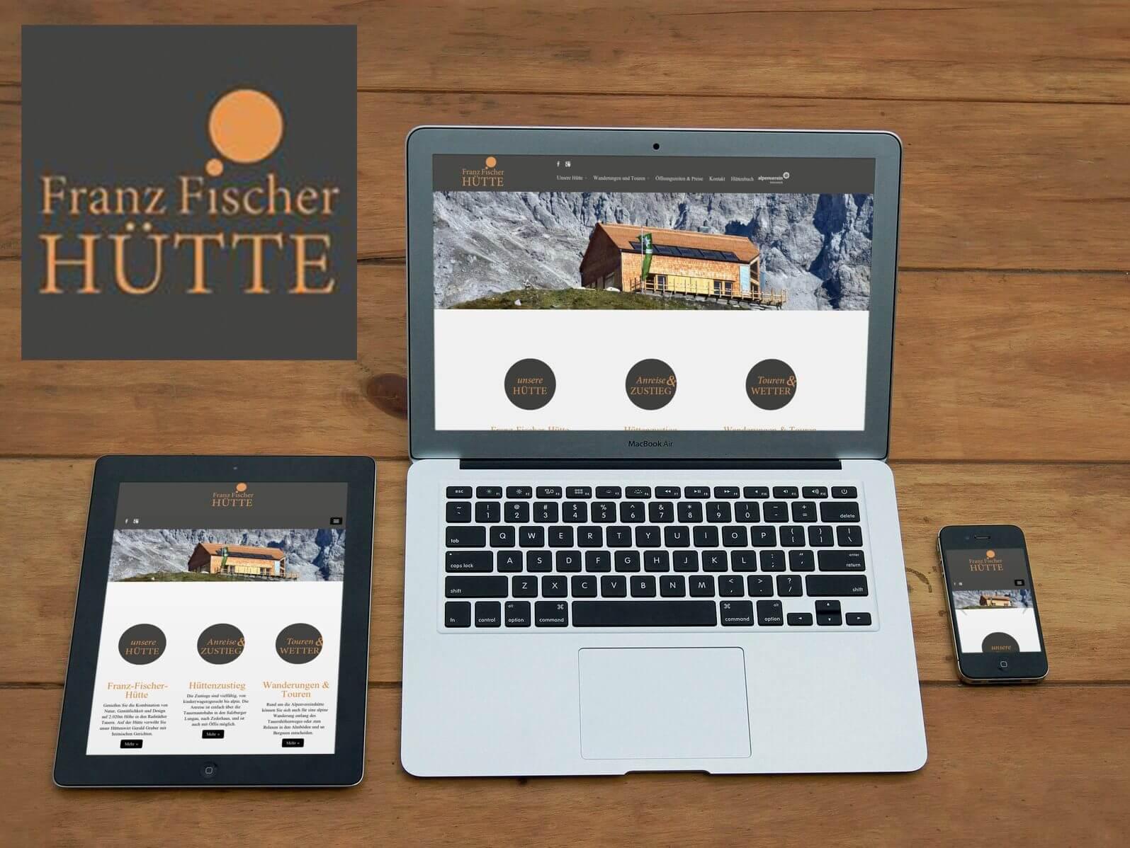 Website Franz-Fischer-Hütte I alpinonline