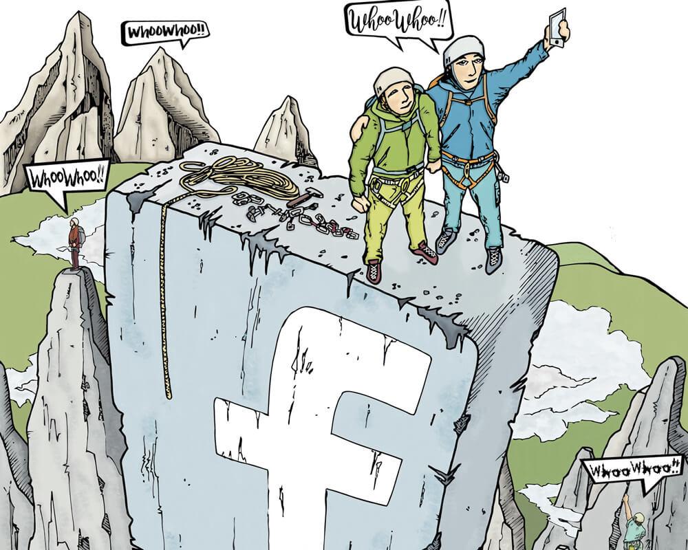 Whoowhoo heilige Berge in bergsteigen, alpinonline I Illu by Roman Hösel