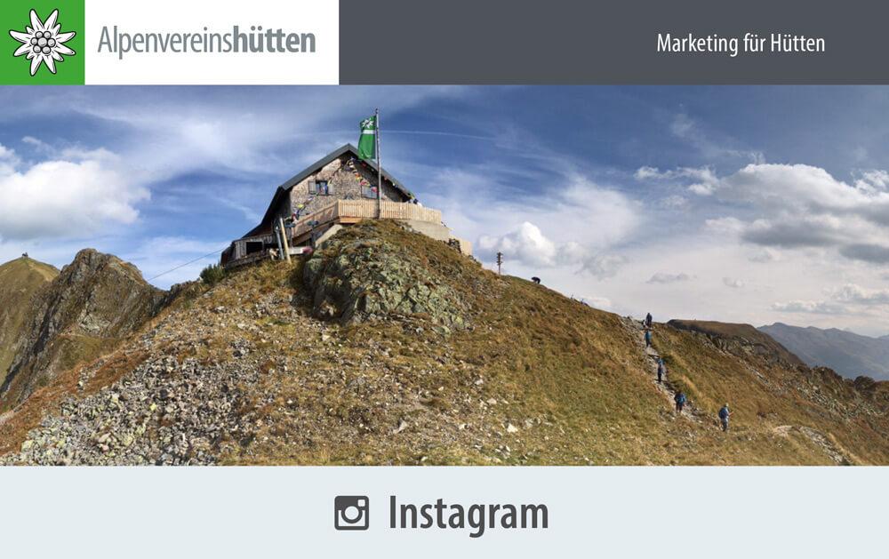 Marketing für Hütten Instagram I alpinonline