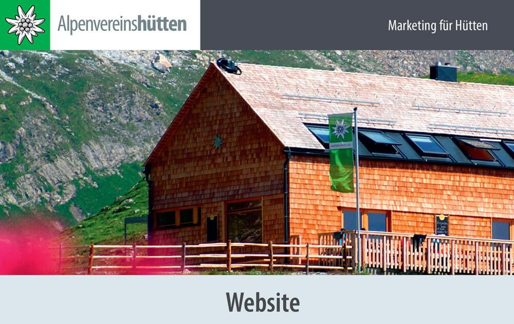 Marketing für Hütten Website I alpinonline