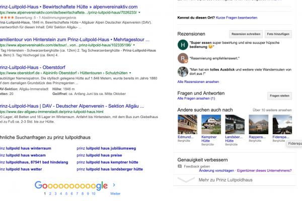 Bestätigungscode anfordern für das Google My Business Konto I alpinonline