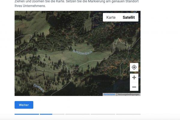 Standort korrigieren in Google My Business bow. Google Maps I alpinonline
