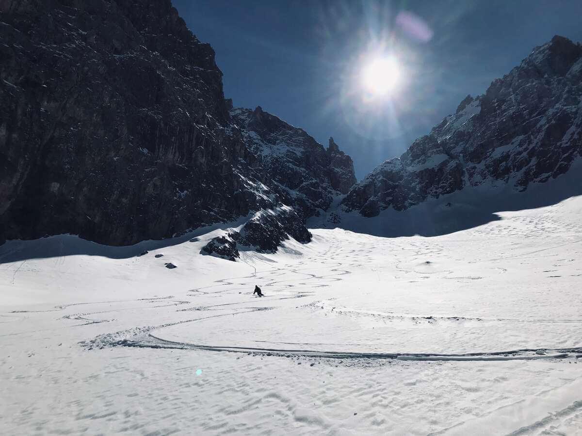 Abfahrt Sentinellascharte I alpinonline