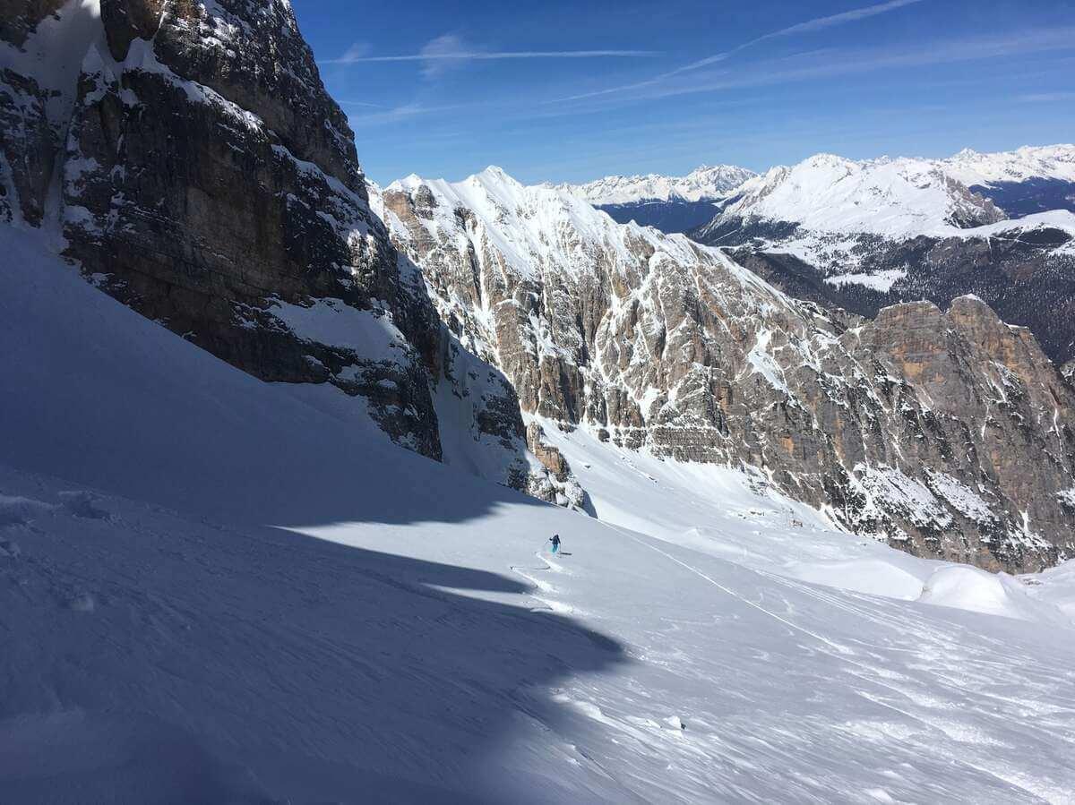 Abfahrt von der Cristallo Scharte I alpinonline