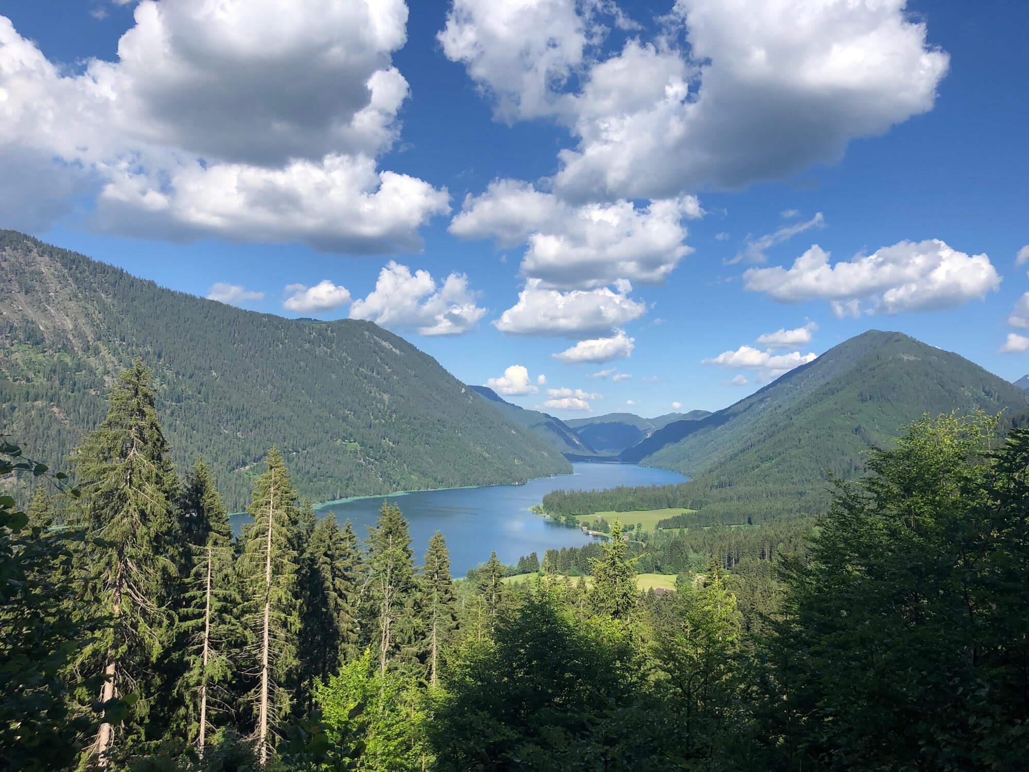 Biken, Wandern, Schwimmen am Weissensee