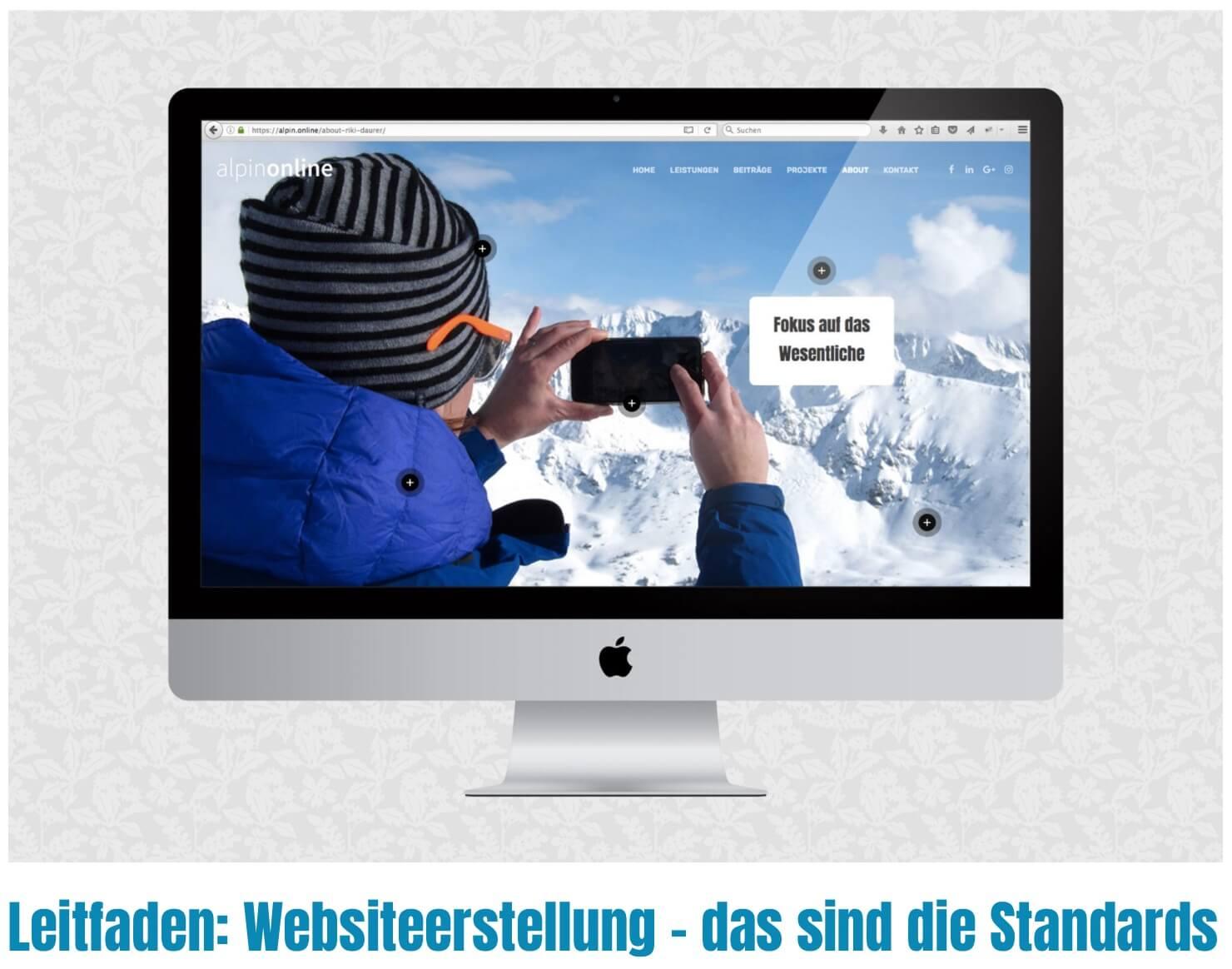 Leitfaden Unternehmen Website I alpinonline