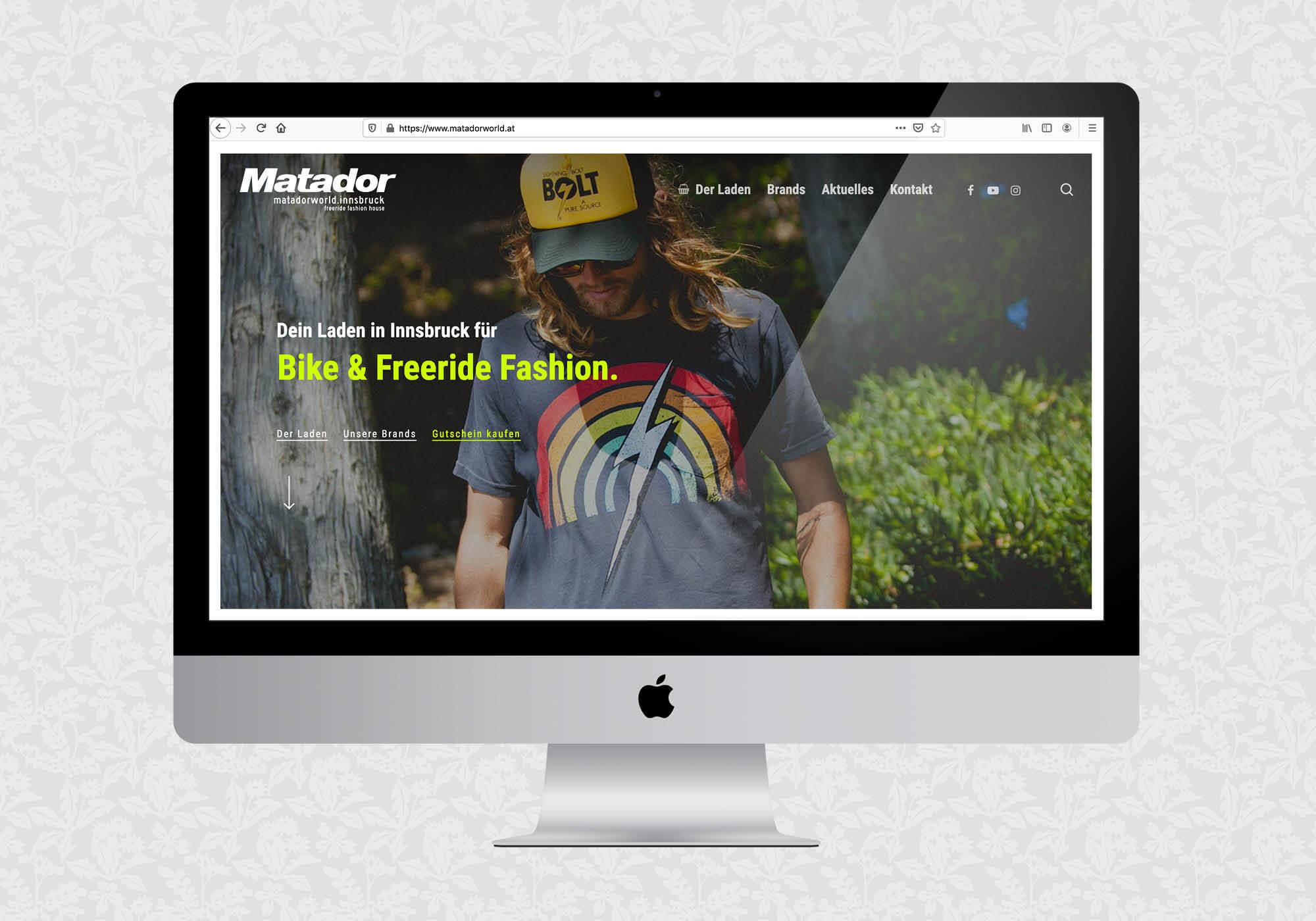 Website für matadorworld.innsbruck