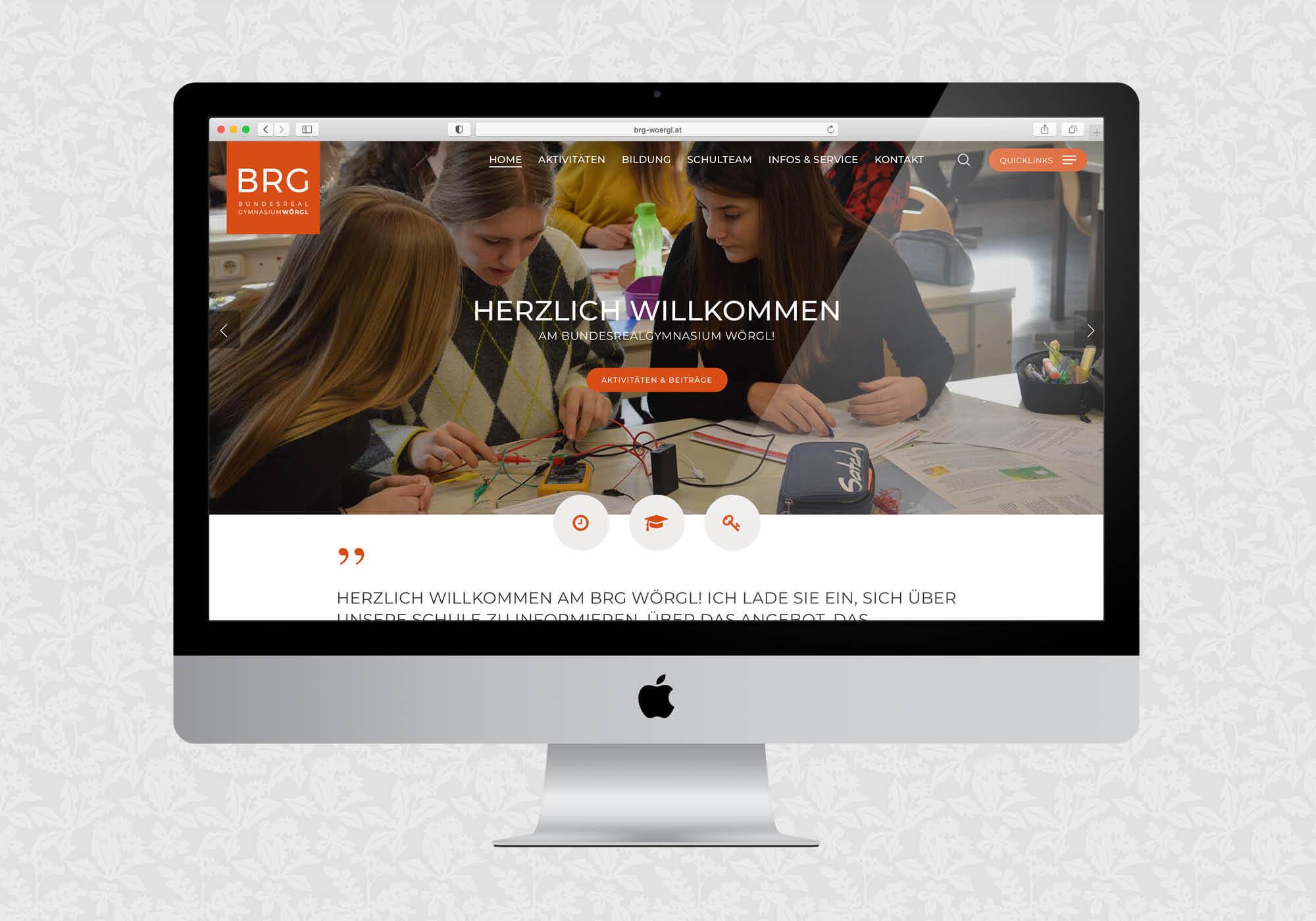 Website Relaunch für BRG Wörgl